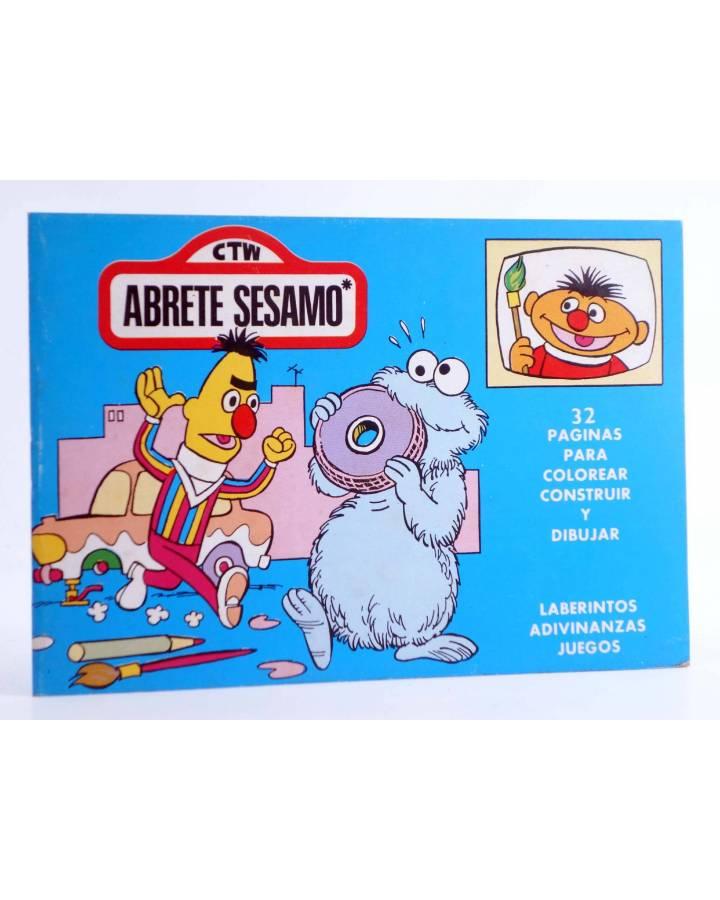 Cubierta de BLOQUE COLOR. CTW ÁBRETE SESAMO BARRIO SESAMO. Ediprint 1976. Pasatiempos actividades. AZUL