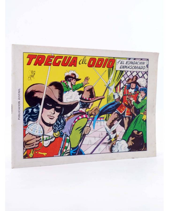 Cubierta de EL ESPADACHIN ENMASCARADO 2ª EDICIÓN 5. TREGUA DE ODIO (Quesada / Gago) Valenciana 1981