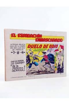 Contracubierta de EL ESPADACHIN ENMASCARADO 2ª EDICIÓN 5. TREGUA DE ODIO (Quesada / Gago) Valenciana 1981