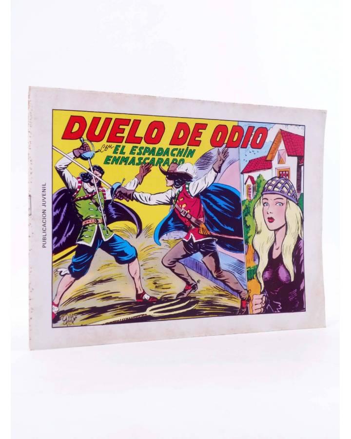 Cubierta de EL ESPADACHIN ENMASCARADO 2ª EDICIÓN 6. DUELO DE ODIO (Quesada / Gago) Valenciana 1981