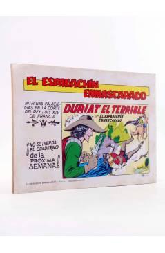 Contracubierta de EL ESPADACHIN ENMASCARADO 2ª EDICIÓN 6. DUELO DE ODIO (Quesada / Gago) Valenciana 1981