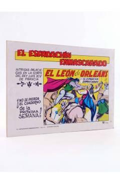 Contracubierta de EL ESPADACHIN ENMASCARADO 2ª EDICIÓN 8. EN PODER DEL VERDUGO (Quesada / Gago) Valenciana 1981