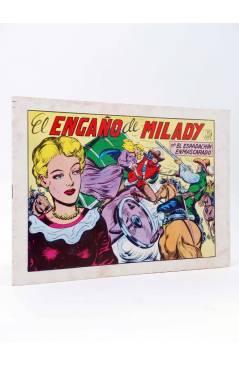 Cubierta de EL ESPADACHIN ENMASCARADO 2ª EDICIÓN 17. EL ENGAÑO DE MILADY (Quesada / Gago) Valenciana 1981