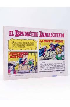Contracubierta de EL ESPADACHIN ENMASCARADO 2ª EDICIÓN 19. CRIMEN Y JUSTICIA (Quesada / Gago) Valenciana 1981