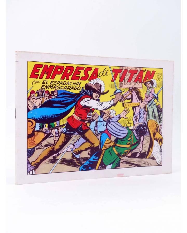 Cubierta de EL ESPADACHIN ENMASCARADO 2ª EDICIÓN 21. EMPRESA DE TITÁN (Quesada / Gago) Valenciana 1981