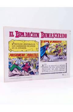 Contracubierta de EL ESPADACHIN ENMASCARADO 2ª EDICIÓN 21. EMPRESA DE TITÁN (Quesada / Gago) Valenciana 1981