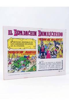 Contracubierta de EL ESPADACHIN ENMASCARADO 2ª EDICIÓN 22. GUERRA A LOS PIRATAS (Quesada / Gago) Valenciana 1981