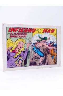 Cubierta de EL ESPADACHIN ENMASCARADO 2ª EDICIÓN 25. INFIERNO EN EL MAR (Quesada / Gago) Valenciana 1981