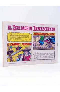 Contracubierta de EL ESPADACHIN ENMASCARADO 2ª EDICIÓN 25. INFIERNO EN EL MAR (Quesada / Gago) Valenciana 1981