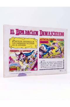 Contracubierta de EL ESPADACHIN ENMASCARADO 2ª EDICIÓN 29. EN PODER DE LOS REBELDES (Quesada / Gago) Valenciana 1981