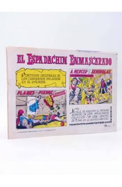 Contracubierta de EL ESPADACHIN ENMASCARADO 2ª EDICIÓN 31. OTRA VEZ EL LOBO (Quesada / Gago) Valenciana 1981