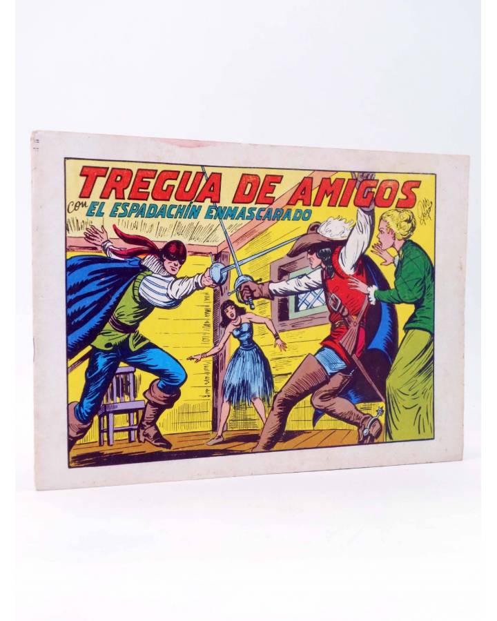 Cubierta de EL ESPADACHIN ENMASCARADO 2ª EDICIÓN 35. TREGUA DE AMIGOS (Quesada / Gago) Valenciana 1982