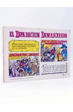 Contracubierta de EL ESPADACHIN ENMASCARADO 2ª EDICIÓN 37. APARECE EL MESTIZO (Quesada / Gago) Valenciana 1982