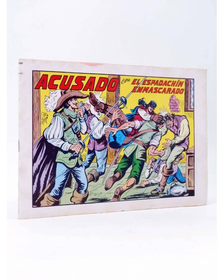 Cubierta de EL ESPADACHIN ENMASCARADO 2ª EDICIÓN 42. ACUSADO (Quesada / Gago) Valenciana 1982