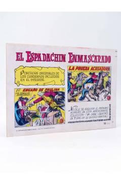 Contracubierta de EL ESPADACHIN ENMASCARADO 2ª EDICIÓN 42. ACUSADO (Quesada / Gago) Valenciana 1982