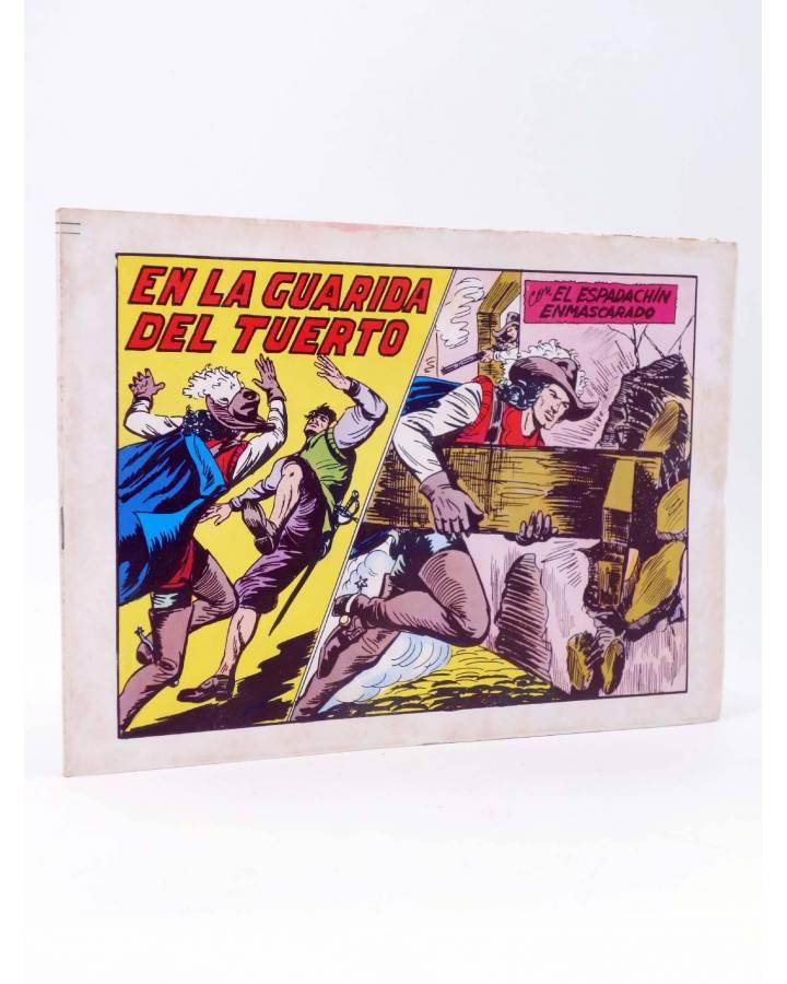 Cubierta de EL ESPADACHIN ENMASCARADO 2ª EDICIÓN 45. EN LA GUARIDA DEL TUERTO (Quesada / Gago) Valenciana 1982