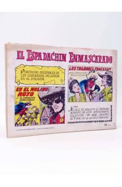 Contracubierta de EL ESPADACHIN ENMASCARADO 2ª EDICIÓN 45. EN LA GUARIDA DEL TUERTO (Quesada / Gago) Valenciana 1982