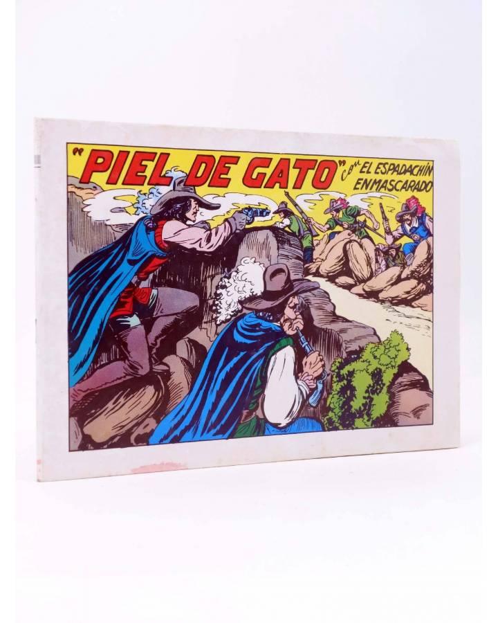 Cubierta de EL ESPADACHIN ENMASCARADO 2ª EDICIÓN 68. PIEL DE GATO (Quesada / Gago) Valenciana 1982