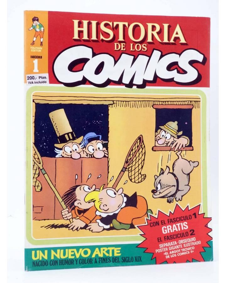 Cubierta de HISTORIA DE LOS COMICS FASCÍCULO 1. UN NUEVO ARTE (Vvaa) Toutain 1982. CON POSTER