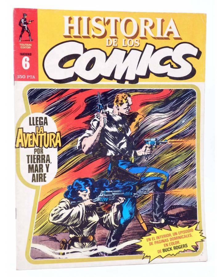Cubierta de HISTORIA DE LOS COMICS FASCÍCULO 6. LLEGA LA AVENTURA (Vvaa) Toutain 1982