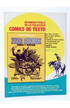 Contracubierta de HISTORIA DE LOS COMICS FASCÍCULO 6. LLEGA LA AVENTURA (Vvaa) Toutain 1982