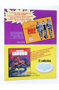Contracubierta de HISTORIA DE LOS COMICS FASCÍCULO 8. LOS HÉROES SE VAN A LA GUERRA (Vvaa) Toutain 1982