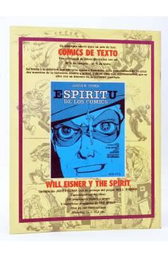 Contracubierta de HISTORIA DE LOS COMICS FASCÍCULO 9. UN ALUD DE SUPERHOMBRES (Vvaa) Toutain 1982. CON POSTER