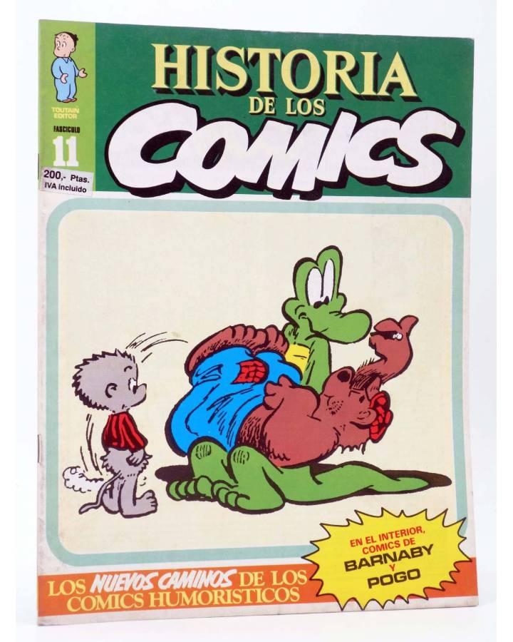 Cubierta de HISTORIA DE LOS COMICS FASCÍCULO 11. NUEVOS CAMINOS (Vvaa) Toutain 1982