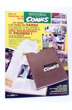 Contracubierta de HISTORIA DE LOS COMICS FASCÍCULO 12. UNA ACTITUD CRÍTICA (Vvaa) Toutain 1982