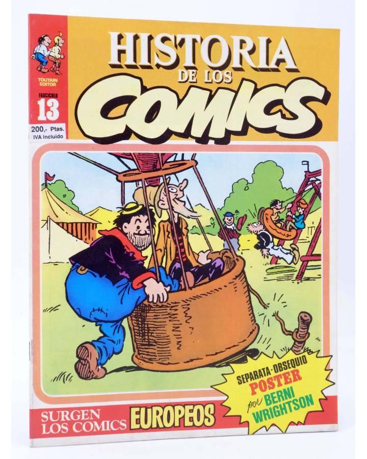 Cubierta de HISTORIA DE LOS COMICS FASCÍCULO 13. LOS COMICS EUROPEOS (Vvaa) Toutain 1982. CON POSTER