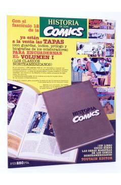 Contracubierta de HISTORIA DE LOS COMICS FASCÍCULO 13. LOS COMICS EUROPEOS (Vvaa) Toutain 1982. CON POSTER