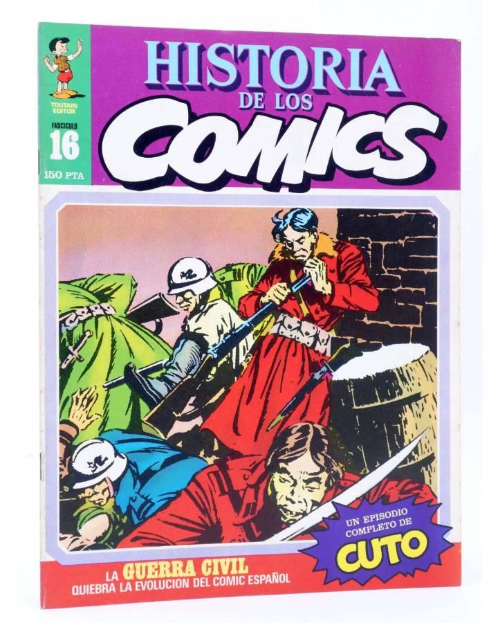 Cubierta de HISTORIA DE LOS COMICS FASCÍCULO 16. LA GUERRA CIVIL (Vvaa) Toutain 1982
