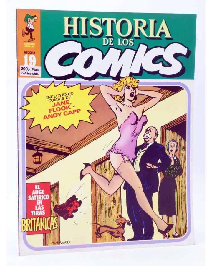 Cubierta de HISTORIA DE LOS COMICS FASCÍCULO 19. TIRAS BRITÁNICAS (Vvaa) Toutain 1982