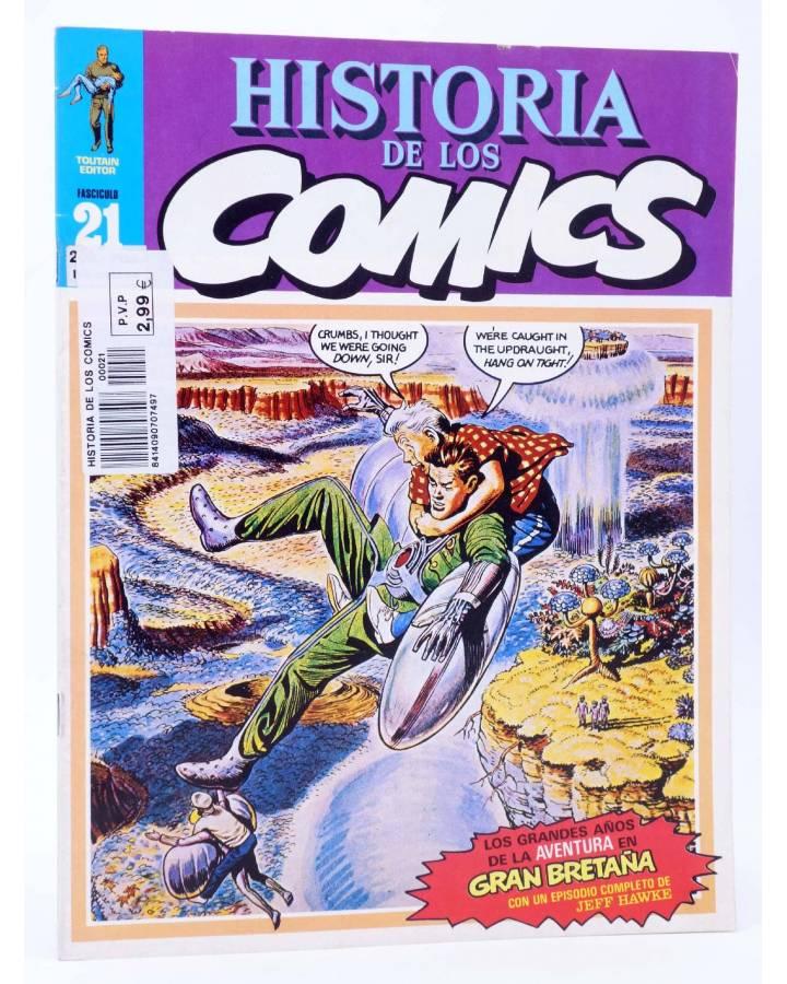 Cubierta de HISTORIA DE LOS COMICS FASCÍCULO 21. GRAN BRETAÑA. JEFF HAWKE (Vvaa) Toutain 1982