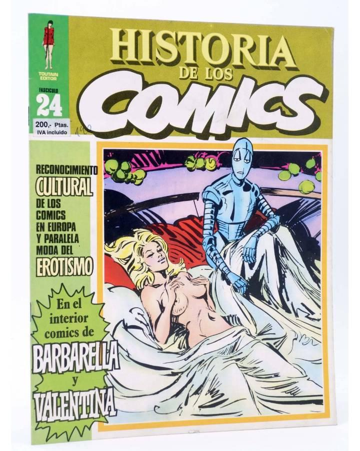 Cubierta de HISTORIA DE LOS COMICS FASCÍCULO 24. RECONOCIMIENTO CULTURAL Y EROTISMO (Vvaa) Toutain 1982