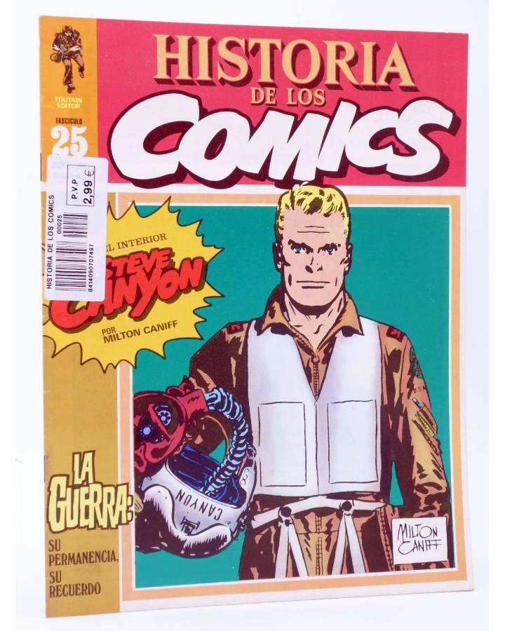 Cubierta de HISTORIA DE LOS COMICS FASCÍCULO 25. LA GUERRA. STEVE CANYON (Vvaa) Toutain 1982