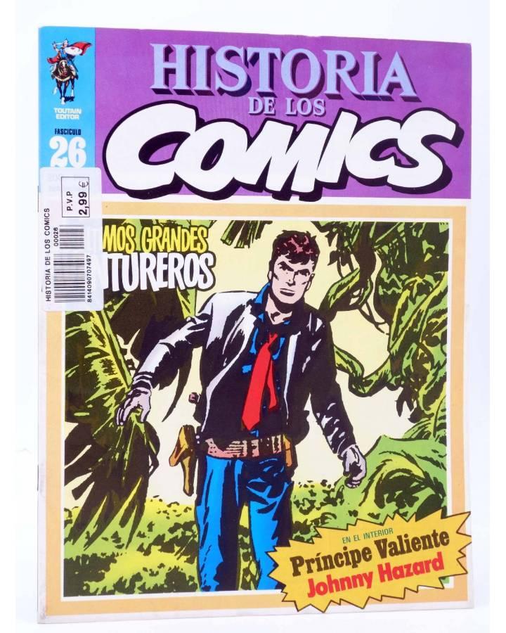 Cubierta de HISTORIA DE LOS COMICS FASCÍCULO 26. GRANDES AVENTUREROS (Vvaa) Toutain 1982