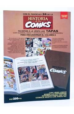 Contracubierta de HISTORIA DE LOS COMICS FASCÍCULO 26. GRANDES AVENTUREROS (Vvaa) Toutain 1982