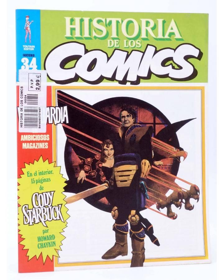 Cubierta de HISTORIA DE LOS COMICS FASCÍCULO 34. COMICS DE VANGUARDIA (Vvaa) Toutain 1982