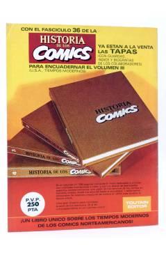 Contracubierta de HISTORIA DE LOS COMICS FASCÍCULO 35. NUEVA RAZA DE ANIMALES PARLANTES (Vvaa) Toutain 1982