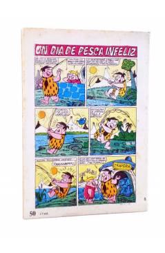 Contracubierta de HANNA BARBERA PUBLICACIÓN JUVENIL 24. LOS PICAPIEDRA. Ediprint 1984