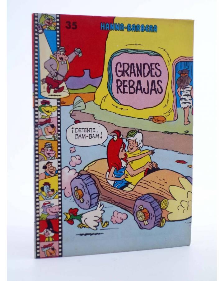 Cubierta de HANNA BARBERA PUBLICACIÓN JUVENIL 35. LOS PICAPIEDRA. GRANDES REBAJAS. Ediprint 1984