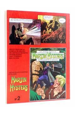 Contracubierta de MARTIN MYSTERE 1. HOMBRES DE NEGRO (A. Castelli / G. Alessandrini) Zinco 1982. BONELLI