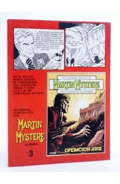 Contracubierta de MARTIN MYSTERE 2. LA VENGANZA DE RA (A. Castelli / G. Alessandrini) Zinco 1982. BONELLI