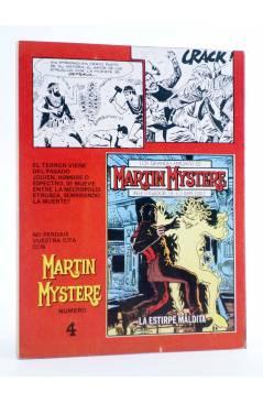Contracubierta de MARTIN MYSTERE 3. OPERACIÓN ARCA (A. Castelli / A.M. Ricci) Zinco 1982. BONELLI