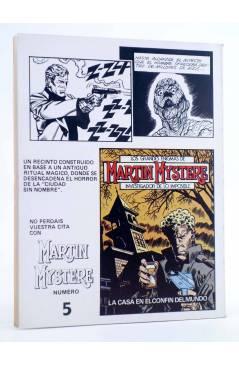 Contracubierta de MARTIN MYSTERE 4. LA ESTIRPE MALDITA (A. Castelli / F. Bignotti) Zinco 1982. BONELLI