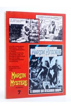 Contracubierta de MARTIN MYSTERE 6. DELITO EN LA PREHISTORIA (A. Castelli / Cassaro) Zinco 1983. BONELLI
