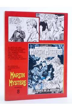 Contracubierta de MARTIN MYSTERE 7. EL HOMBRE QUE DESCUBRIÓ EUROPA (Castelli / F. Bignotti) Zinco 1983. BONELLI