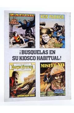 Contracubierta de MISTER NO 3. EL ÚLTIMO CANGACEIRO (G. Nolitta / F. Bignot) Zinco 1982. BONELLI