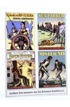 Contracubierta de MISTER NO 6. EL HOMBRE DE GUYANA (G.Nolitta / R. Diso) Zinco 1983. BONELLI